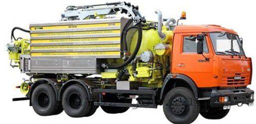 Каналопромывочная машина КО-560 для очистки засоров