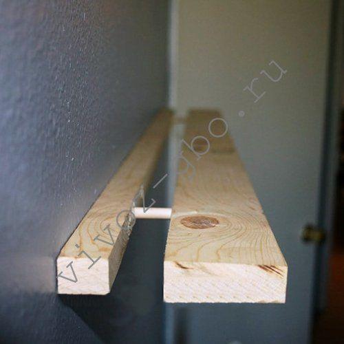 Использование нагелей для полок в туалете
