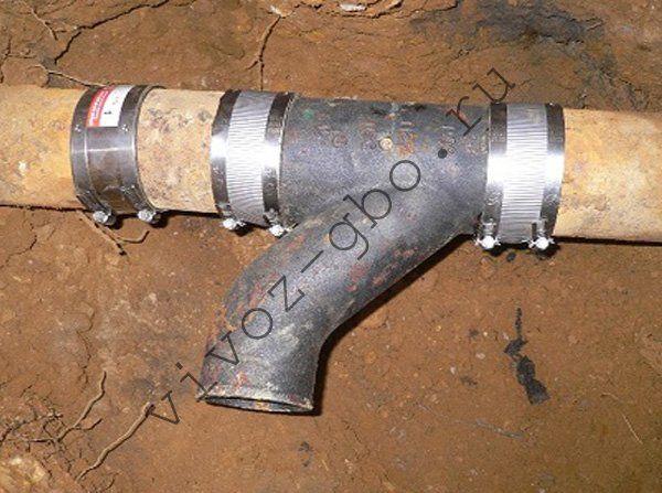 Чем заделать чугунную канализационную трубу