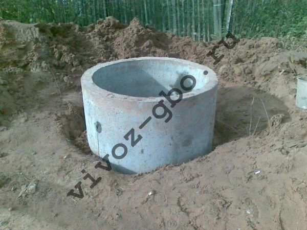 Шамбо из бетонных колец