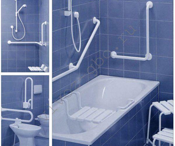 Maniglioni per disabili nella stanza da bagno e toilette