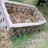 Компостная яма из кирпича