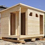 Дачная деревянная бытовка